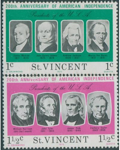 St Vincent 1975 SG457-458 American Revolution MH