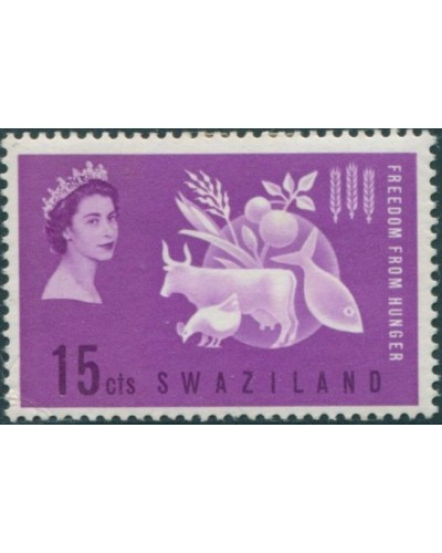 Swaziland 1963 SG106 15c Freedom from Hunger MH