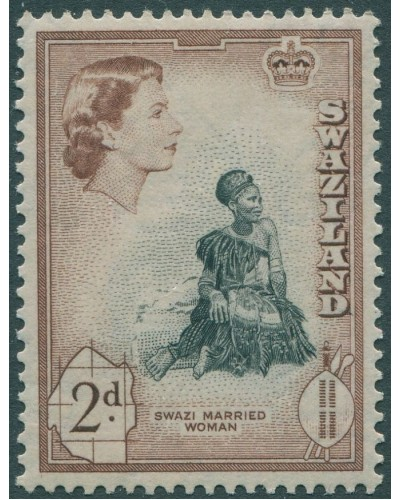 Swaziland 1956 SG55 2d Swazi Married Woman MNH