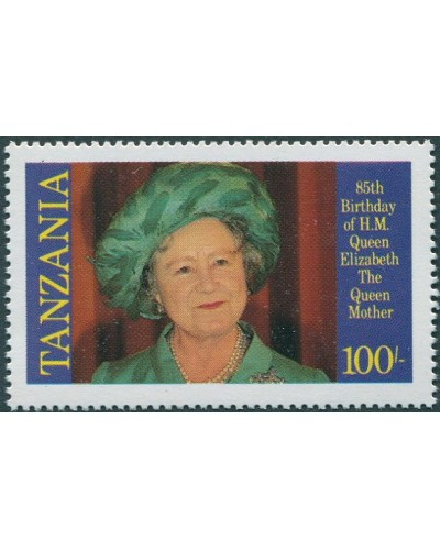 Tanzania 1985 SG428 100/- Queen Mother portrait MNH
