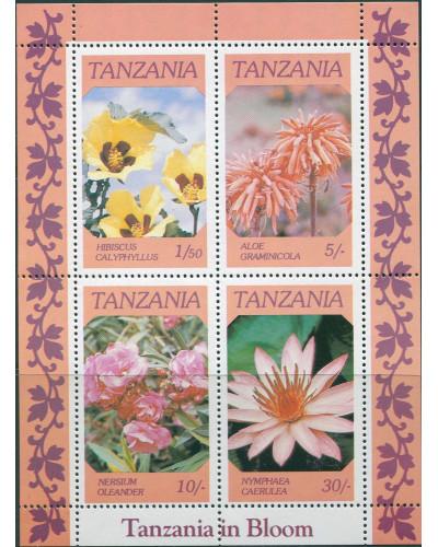 Tanzania 1986 SG478 Flowers MS MNH