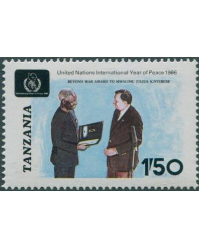 Tanzania 1986 SG499 1s.50 President Nyerere MNH