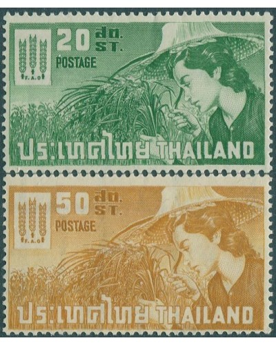 Thailand 1963 SG469-470 Freedom from Hunger set MNH