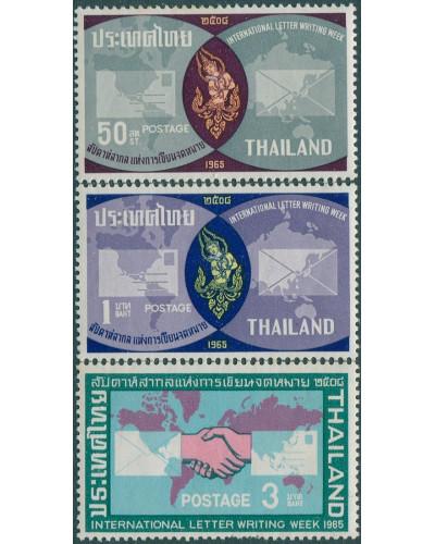 Thailand 1965 SG524-527 International Correspondence Week part set MNH