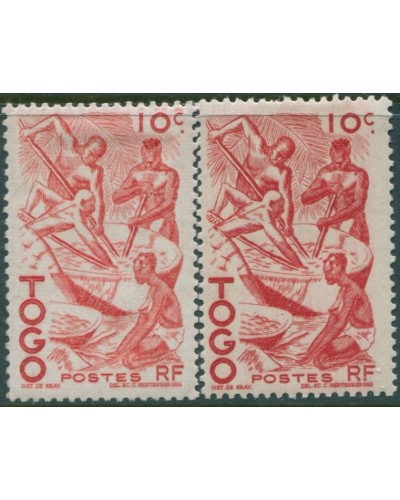 Togo 1947 SG163 10c Oil Extraction Process shades MLH