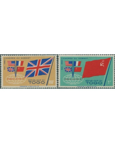 Togo 1960 SG262-263 Union Jack and Flags MLH