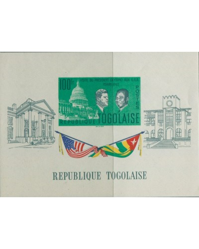 Togo 1962 SG318a President Olympio USA MS MNH