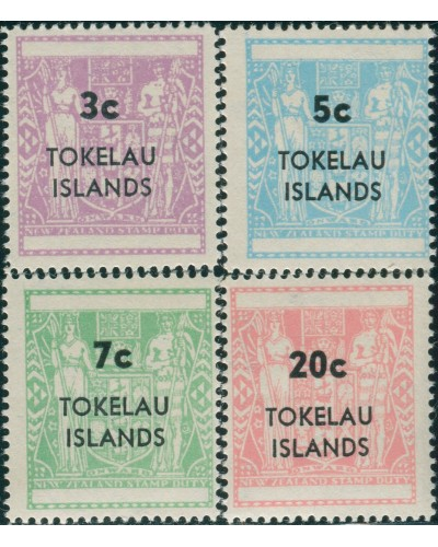 Tokelau 1967 SG12-15 Arms Decimal Overprints set MNH