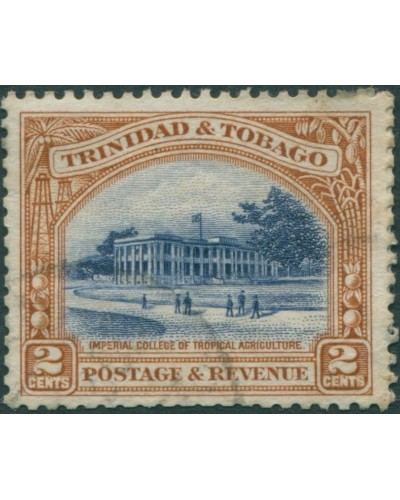 Trinidad and Tobago 1935 SG231a 2c blue and brown College FU