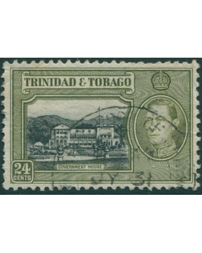 Trinidad and Tobago 1938 SG253 24c black and olive Government House FU