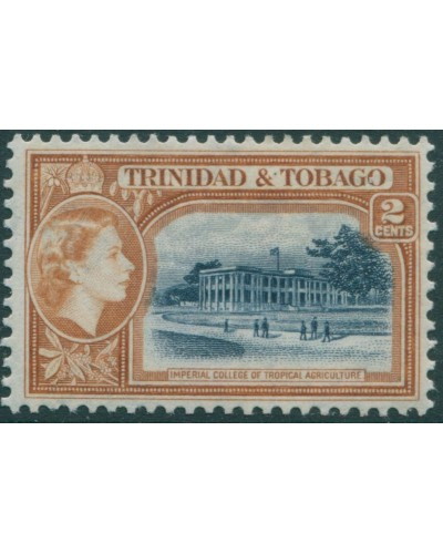 Trinidad and Tobago 1953 SG268 2c blue and brown College QEII MH