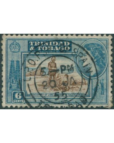 Trinidad and Tobago 1953 SG272 6c brown and blue Lake Asphalt QEII FU
