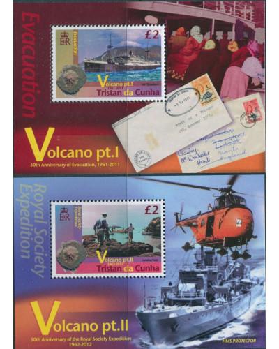 Tristan Da Cunha 2011 SG1039-1082 Volcanoes MS (2) MNH