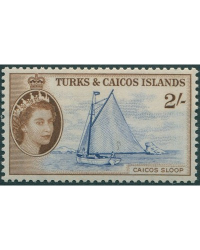 Turks and Caicos Islands 1957 SG248 2/- Sloop QEII MNH