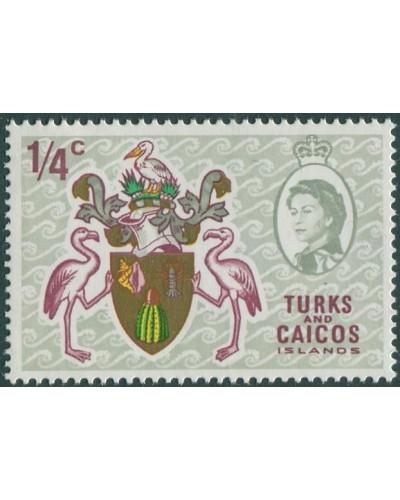 Turks and Caicos Islands 1969 SG297 ¼c Arms MNH