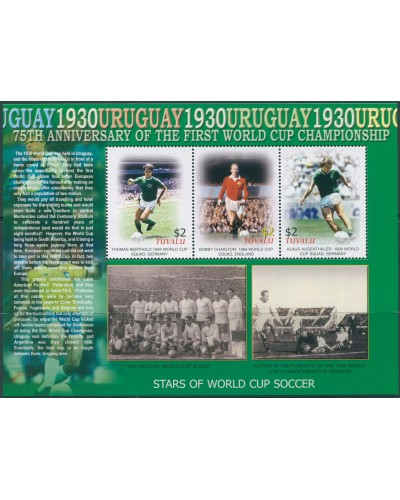 Tuvalu 2005 SG1164-1166 World Cup 75th Year sheetlet MNH