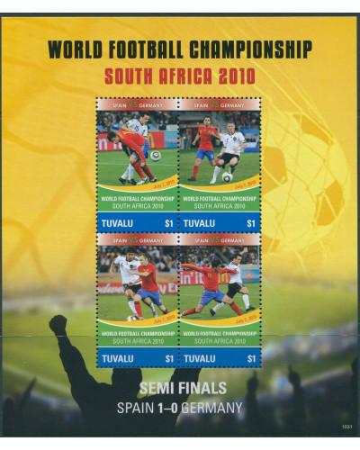 Tuvalu 2010 SG1404 Football World Cup MS MNH