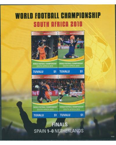 Tuvalu 2010 SG1405 Football World Cup MS MNH