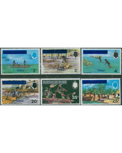 Tuvalu 1976 SG20-25 Food Gathering MNH