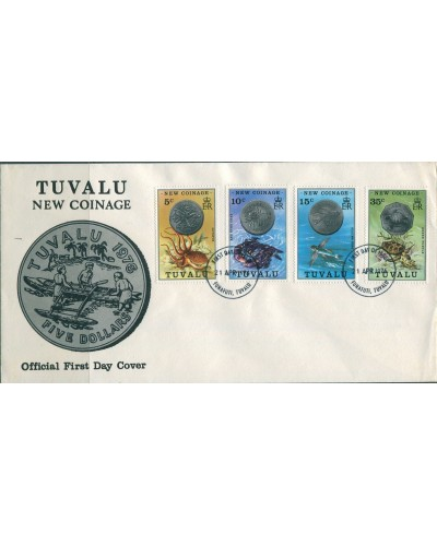 Tuvalu 1976 SG26-29 Coinage set FDC