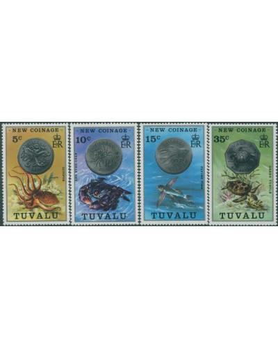 Tuvalu 1976 SG26-29 New Coinage set MLH