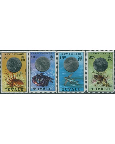 Tuvalu 1976 SG26-29 New Coinage set MNH