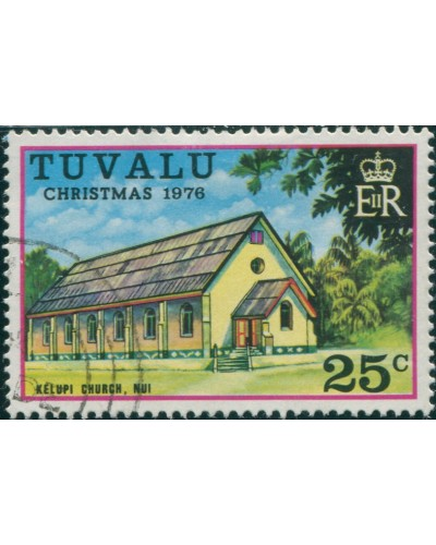 Tuvalu 1976 SG47 25c Church FU