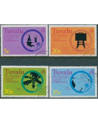 Tuvalu 1977 SG54-57 South Pacific Commission set FU