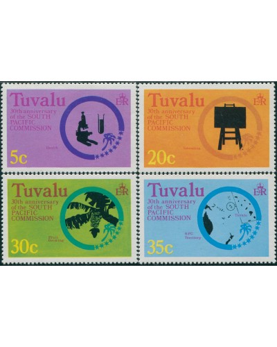 Tuvalu 1977 SG54-57 South Pacific Commission set MLH