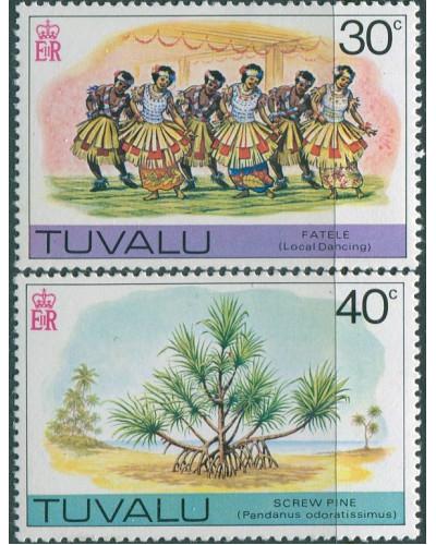 Tuvalu 1977 SG67-68 Dancing and Pine MNH