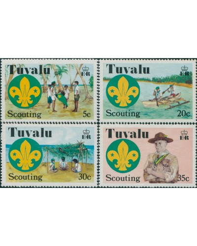 Tuvalu 1977 SG73-76 Scouts set MLH
