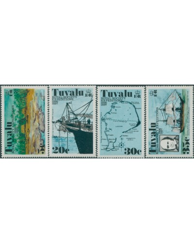 Tuvalu 1977 SG77-80 Royal Society set MLH