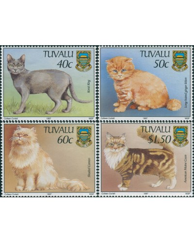 Tuvalu 1997 SG786-789 Cats set MNH