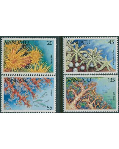 Vanuatu 1986 SG442-445 Marine Life set MNH
