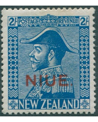 Niue 1928 SG49 2/- light blue KGV MH