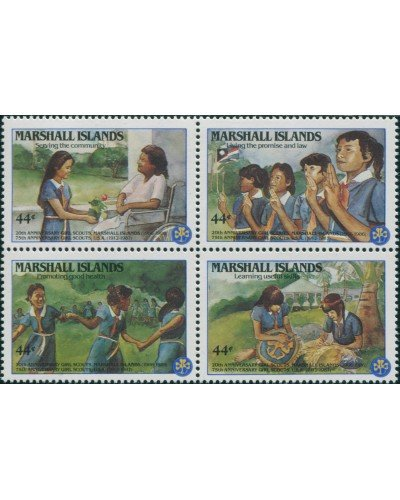Marshall Islands 1986 SG99-102 Girl Scouts set MNH