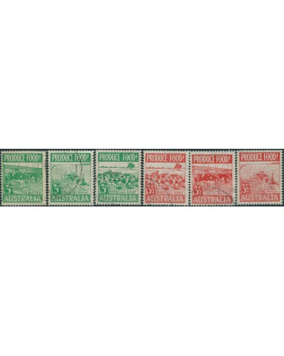 Australia 1953 SG255 Butter, Wheat and Beef set FU