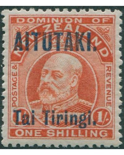 Aitutaki 1911 SG12 1s vermilion Tai Tiringi. ovpt MLH