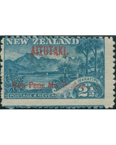 Aitutaki 1903 SG3 2½d deep blue Lake Wakatipu and Mount Ernslaw p14 MLH