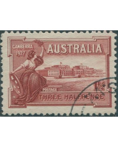 Australia 1927 Sc#94,SG105 1½d Parliament House FU