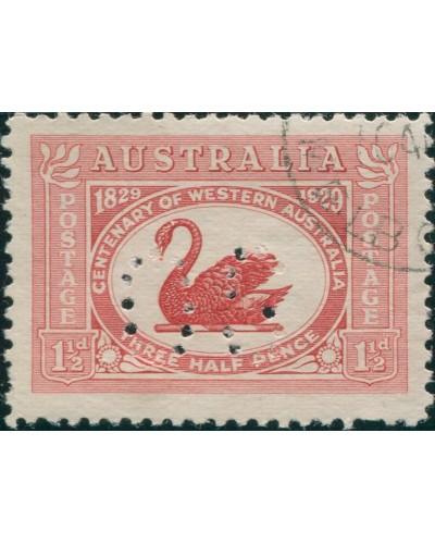 Australia 1929 Sc#103,SGO120 1½d Swan OS without gum CTO