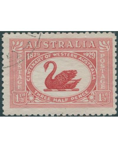 Australia 1929 Sc#103,SG116 1½d Swan FU