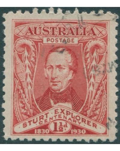 Australia 1930 Sc#104,SG117 1½d Sturt FU