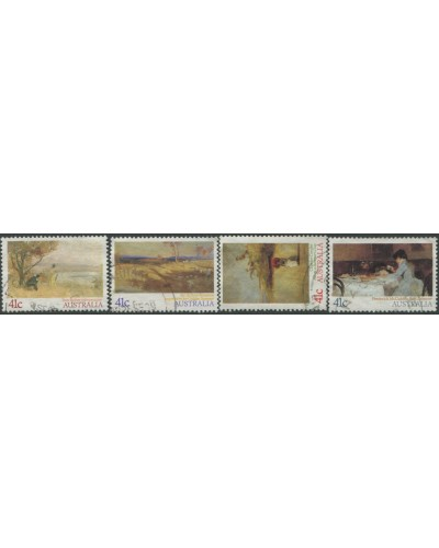 Australia 1989 SG1212-1215 Impressionist Paintings set FU