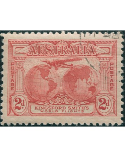 Australia 1931 Sc#111,SG121 2d Kingsford Smith full gum CTO