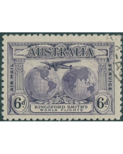 Australia 1931 Sc#C2,SG123 6d Kingsford Smith FU