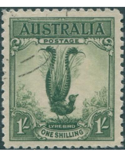 Australia 1932 Sc#141,SG140 1/- Large Lyrebird full gum CTO
