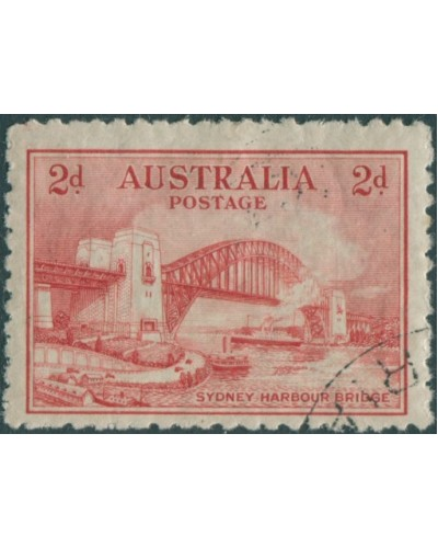 Australia 1931 Sc#130,SG141 2d scarlet Bridge never hinged full gum CTO