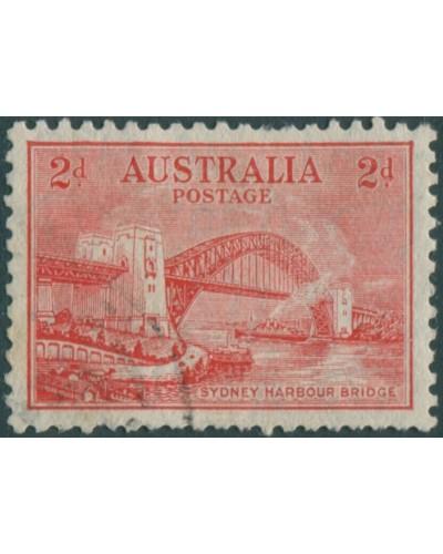 Australia 1931 Sc#133,SG144 2d scarlet Bridge typo FU