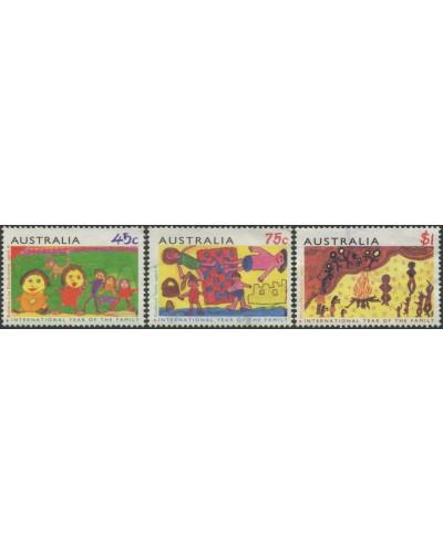 Australia 1994 SG1450-1452 Children's Paintings set of 3 FU